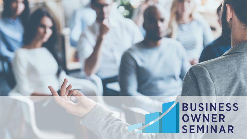 Business Owner Seminar banner