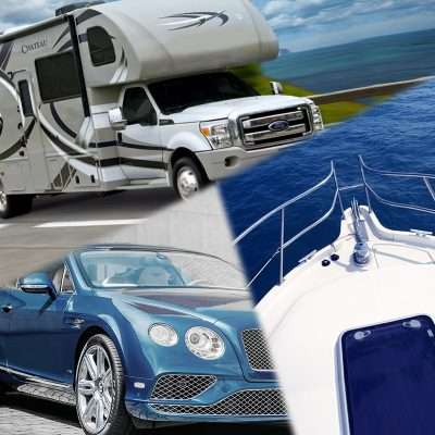 RV camper, a sporty car, and a boat - all can be purchased with the help of a personal loan