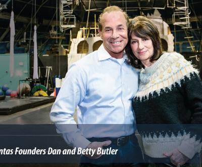Dan and Betty Butler, the founders of Circus Juventas